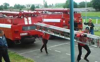Лестница трехколенная пожарная