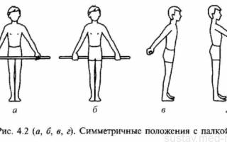 Комплекс упражнений для восстановления прямой осанки