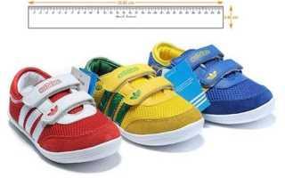 Как определить размер детской обуви по стельке и длине стопы?
