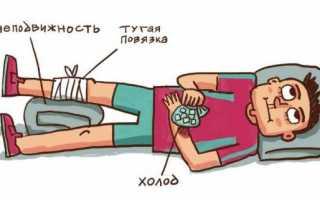 Первая медицинская помощь при вывихах переломах ушибах